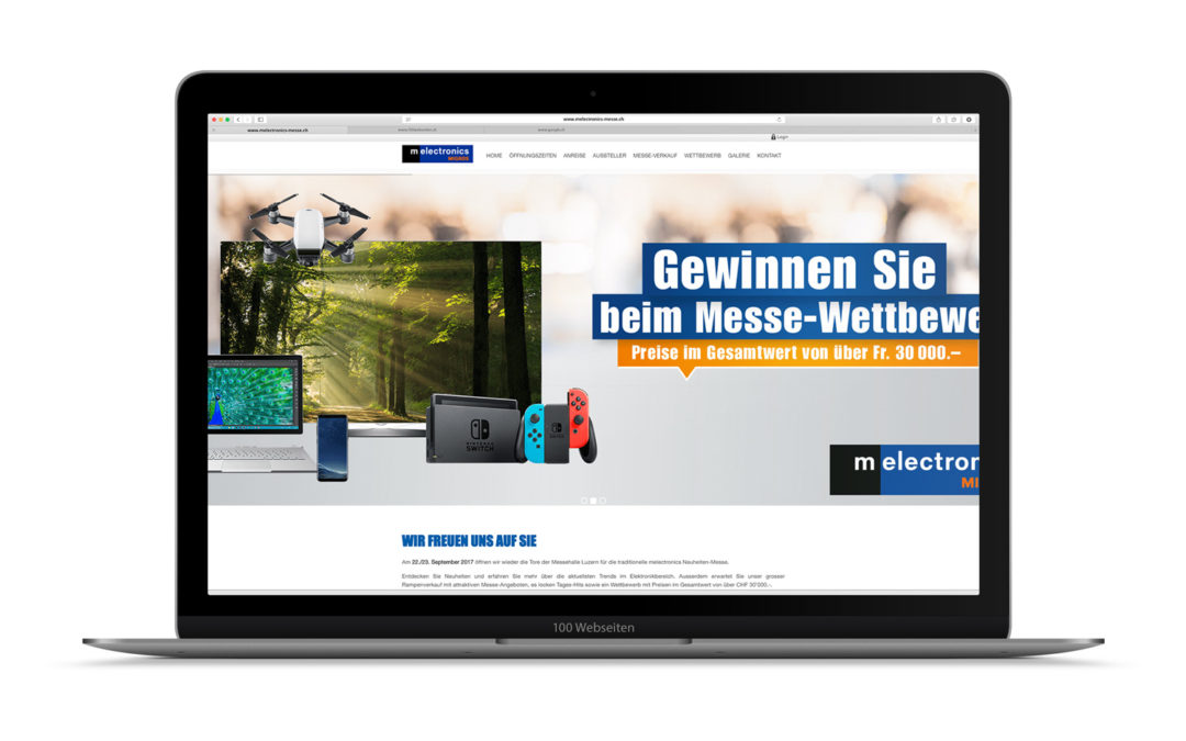 Melectronics-Messe Webdesign